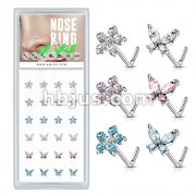 24 Pcs Flower and Butterfly Themed