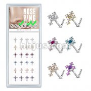 24 Pcs CZ Cross Top