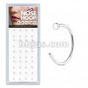 20 Pcs Pre Loaded 316L Surgical Steel Flat End Nose Hoop Rings Pack