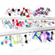 Starter Pack 348pcs Acrylic Barbells/Tongue Rings Pre Assorted Best Sellers
