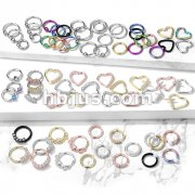 Starter Pack 352 pcs 316L Surgical Steel  Hoops Pre Assorted Best Sellers for Cartilage, Tragus, Nose septum and more