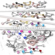 Starter Pack 208 pcs 316L Surgical Steel Nipple Rings Pre Assorted Best Sellers