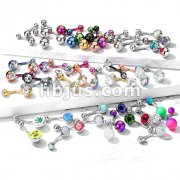 Starter Pack 159pcs 316L Surgical Steel Belly/Navel Rings Pre Assorted Best Sellers