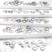 Starter Pack 384 pcs 316L Surgical Steel Nose Hoops Pre Assorted Best Sellers
