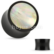 Mother of Pearl Inlay Organic Horn Saddle Fit Plug