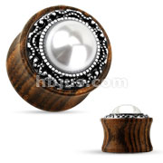 Pearl Center Organic Wood Saddle Plug