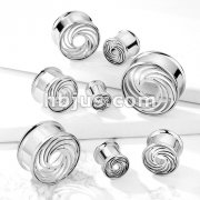 Cut Out Swirl Front 316L Surgical Steel Double Flared Tunnels