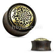 Antique Tribal Ebony Wood Saddle Fit Plug