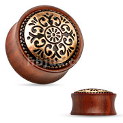 Antique Tribal Rose Wood Wood Saddle Fit Plug