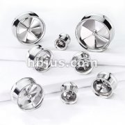 Spinning Pinwheel Fan Double Flare Tunnels 316L Surgical Steel