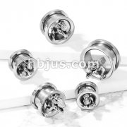 T-Rex Dinosaur 316L Surgical Steel Screw Fit Flesh Tunnel Plugs