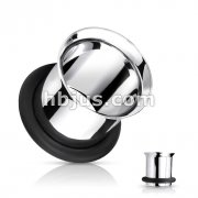 Single Flared Flesh Tunnels 316L Surgical Stainless Steel