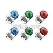 60 pcs Eyeball Inlaid 316L Surgical Steel Faux Plug Bulk Pack (10 pcs x 6 Styles)