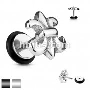 Fleur De Lis 316L Surgical Steel Fake/Cheater Plug