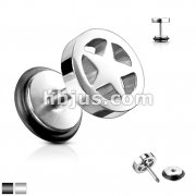 Star Loop Top Fake Plug 316L Surgical Steel