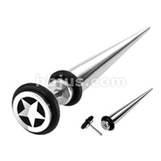 Star Top Fake Taper 316L Surgical Steel