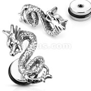 316L Surgical Steel Dragon Fake Plug