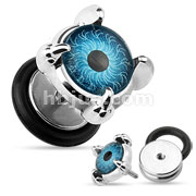 Eyeball Set Front 16gauge 316L Surgical Steel Fake Plugs