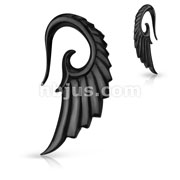 Angelic Wing Hand Carved Organic HornTaper