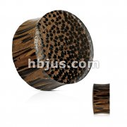 Palm Wood Double Sided Convex/Concave Saddle Fit Organic Plug