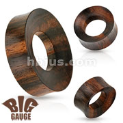 Large Rimmed Organic Wood Saddle Fit Tunnel