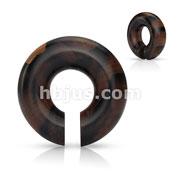 Organic Areng Wood Round Ear Spiral Taper/ Septum Hangers
