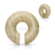 Organic Crocodile Wood Round Ear Spiral Tape/ Septum Hangers