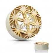 Flower of Life Center Cut Out Saddle Fit Organic Plug Tunnel