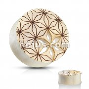 Flower of Life Cut Out Saddle Fit Organic Plug Tunnel