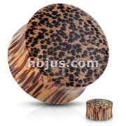 Coco Wood Saddle Fit Organic Solid Plug