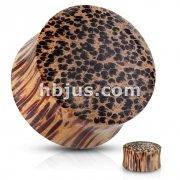 Coco Wood Saddle Fit Organic Solid Plug