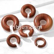 Organic Saba Wood Round Ear Spiral Taper/ Septum Hangers