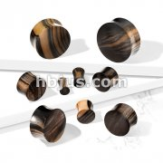 Striped Ebony Wood Convex Saddle Plug
