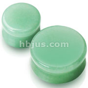 Large Sizes of Solid Jade Semi Precious Stone Saddle Fit Plugs 60pc Pack (10pcs x 6 sizes, 1/2