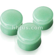 Small Sizes of Solid Jade Semi Precious Stone Saddle Fit Plugs 60pc Pack (10pcs x 6sizes, 8GA~00GA)