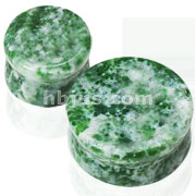 Large Sizes of Solid Amazonite Semi Precious Stone Saddle Fit Plugs 60pc Pack( 10pcs x 6 sizes, 1/2