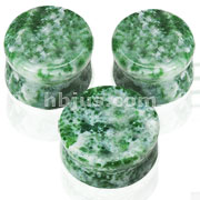 Small Sizes of Solid Amazonite Semi Precious Stone Saddle Fit Plugs 60pc Pack(10pcs x 6 sizes, 8GA~00GA)