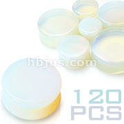 Large Size Opalite Saddle Fit Plugs 120pc Pack (20pcs x 6sizes, 1/2