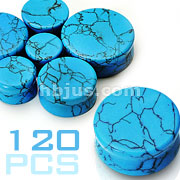 Large size Turquoise Saddle Fit Plugs 120pc Package (20pcs x 6 sizes, 1/2