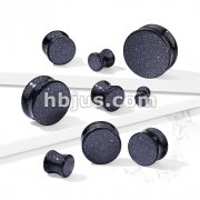 Blue Sand Natural Stone Double Flared Plugs