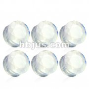 Opalite Double Flared Faceted Semi Precious Stone Plugs 42pc Pack (6pcs x 7size, 4GA ~ 5/8