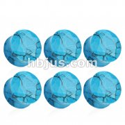 Blue Turquoise Double Flared Faceted Semi Precious Stone Plugs 42pc Pack (6pcs x 7size, 4GA ~ 5/8