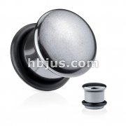 Hematite Semi Precious Stone Saddle Plug with O-Ring