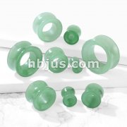 Semi Precious Green adventurin Stone Double Flared Saddle Tunnel