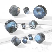 Labradorite Natural Stone Double Flared Plugs