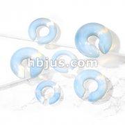 Opalite Semi Precious Stone Round Hanger Tapers