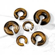 Tiger Eye Semi Precious Stone Round Hanger Tapers