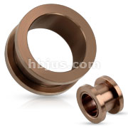 Bronze IP Over 316L Surgical Steel Screw Fit Flesh Tunnel