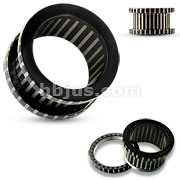 Striped Black Ion Plated over 316L Surgical Steel Flesh Screw Fit Tunnel