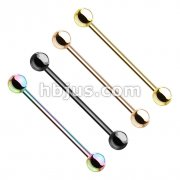 80 Pcs PVD Over 316L Surgical Steel Barbells Bulk Pack (20 pcs x 4 Colors)